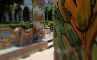 Architettura: napoli monastero santa chiara chiostro