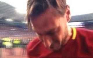 Serie A: totti roma calcio serie a  lacrime
