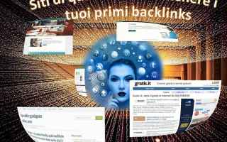 SEO: backlinks  gratis  italia  link building