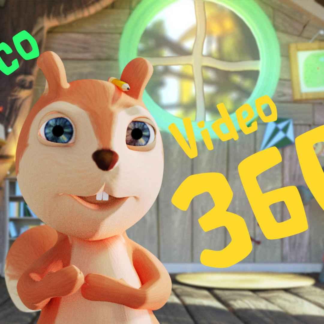 cartoni animati  video 360