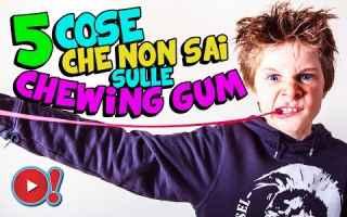 Video divertenti: cheving gum  curiosità  bubble gum