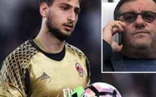 Calciomercato: calciomercato  milan  donnarumma  caso