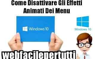 Computer: windows 10  disattivare.menu