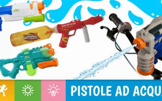 Giochi: 11 pistole e fucili ad acqua per battaglie rinfrescanti all