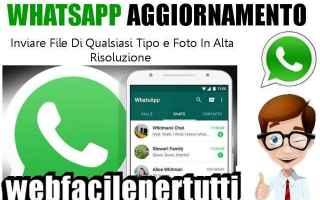 App: whatsapp aggiornamento