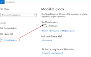 Microsoft: riparare videogame creators-update windo