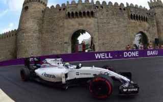 Formula 1: F1 Azerbaigian ore 15  in diretta live streaming