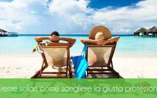 creme solari  protezione solare  solari