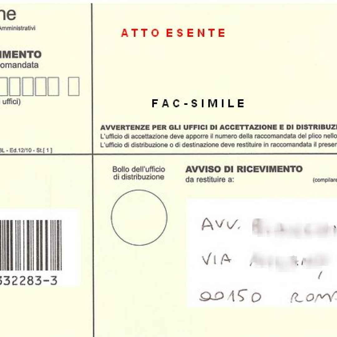 cartella notifica concessionario prova