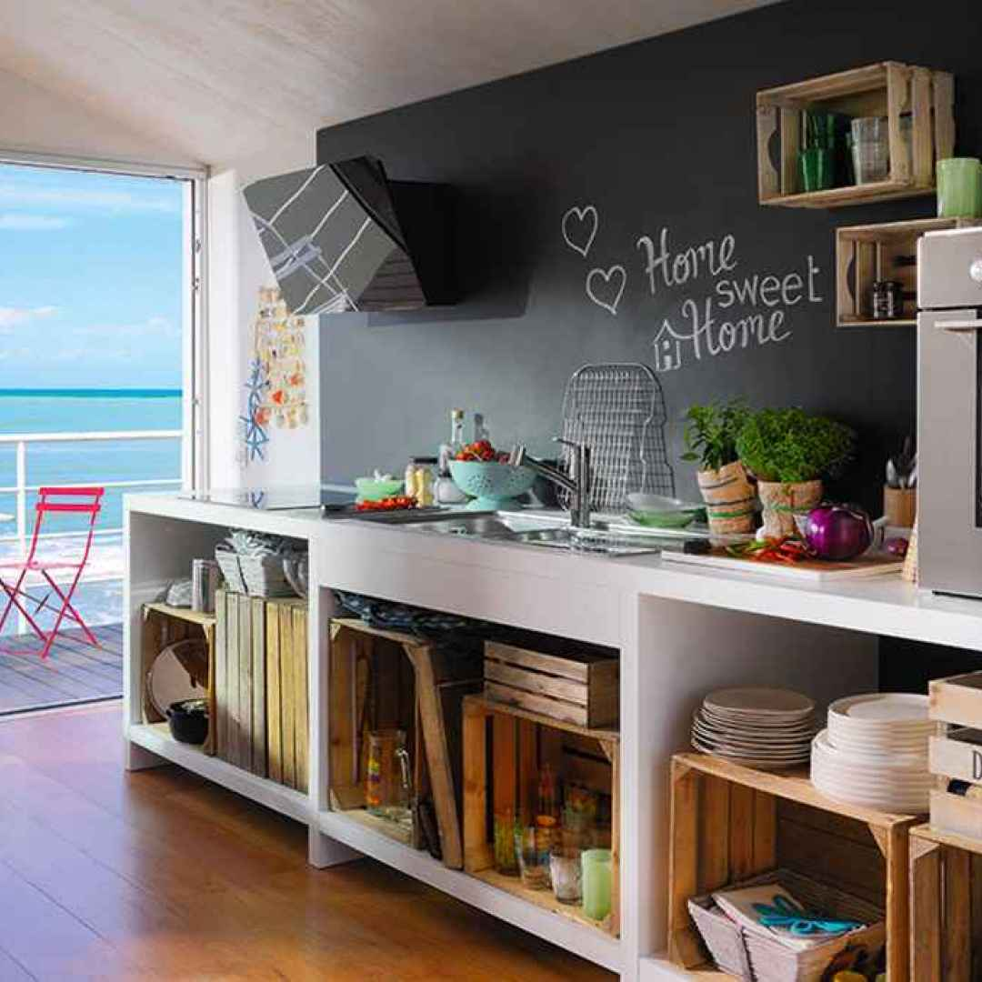 Una nuova vita per le cassette di legno idee d - Idee per la cucina moderna ...