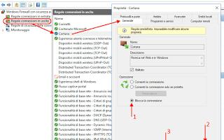 Microsoft: disattivare cortana telemetria firewall