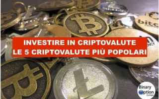 Borsa e Finanza: investire in criptovalute  trading