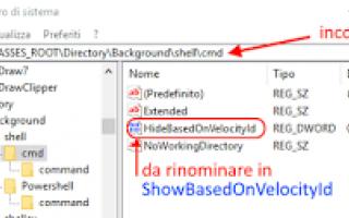 Microsoft: ripristinare  prompt  windows-10  creators
