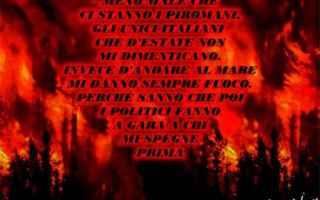 incendi dolosi  mafie  piromani
