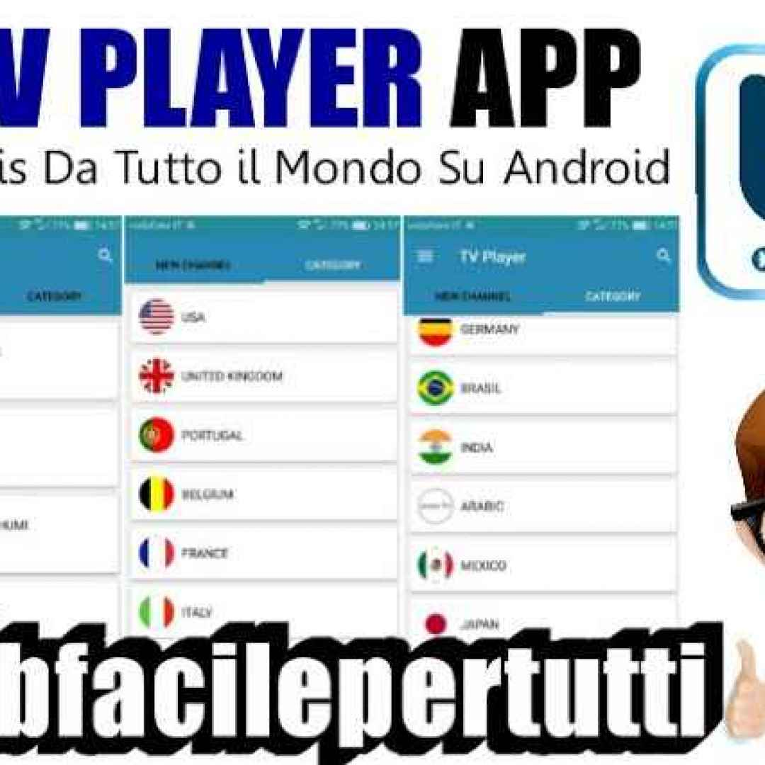 Tv player applicazione per vedere la tv gratis da tutto for App per vedere telecamere su android