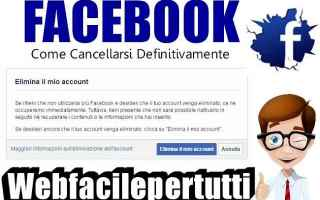 Facebook: facebook cancellarsi