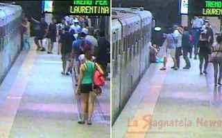 Roma: Donna trascinata dalla metro B, incastrata nelle porte
