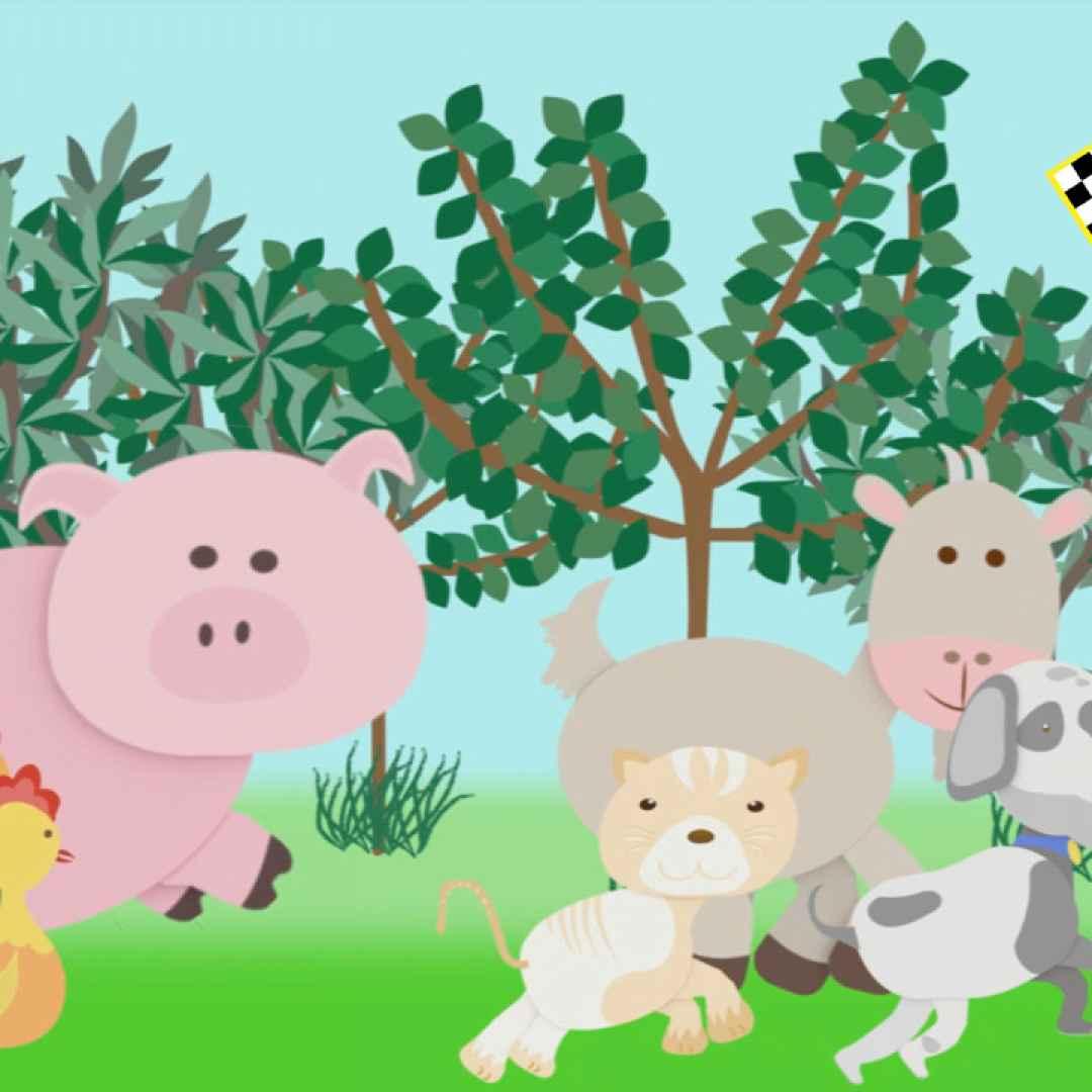 La gare degli animali domestici cartoni per bambini con