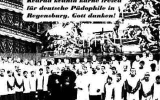 Satira: chiesa  pedofilia  ratisbona