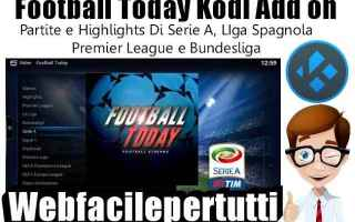 football today  kodi  add on