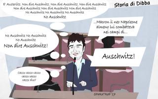 dibattista  auschwitz austerlitz  satira