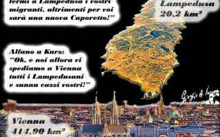 Satira: migranti  alfano  ministro kurz