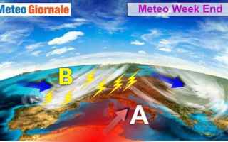 meteo  weekend  caldo  temporali
