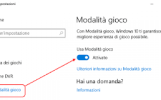 Microsoft: modalità gioco windows-10 streaming