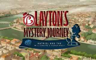 Mobile games: layton  videogame  puzzle