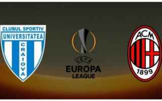 Europa League: craiova  milan  europa league
