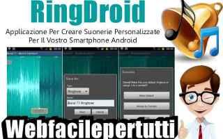 App: ringdroid suonerie app