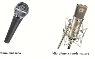 microfono dinamico  microfono a condensa