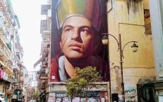 Napoli: sangennaro  napoli  murales  forcella