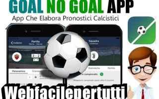 Calcio: goal no goal  app  scommesse