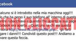 Facebook: facebook  macchina  telefono  profilo