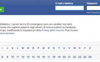 facebook senza registrazione
