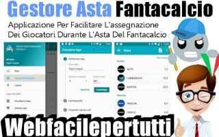 Fantacalcio: gestore  asta  fantacalcio  app