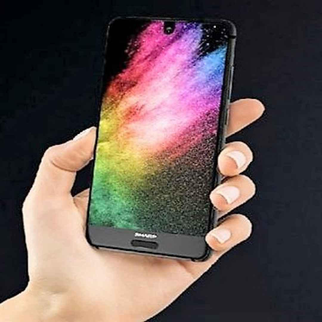 sharp  smartphone  full display  android