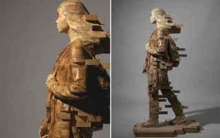 Arte: arte  scultura  iperrealismo  legno