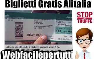 Facebook: biglietti alitalia truffa facebook