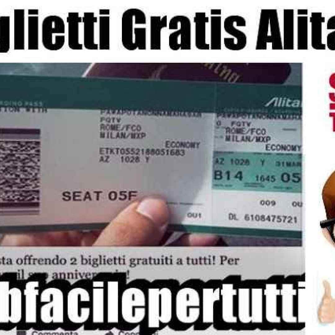 biglietti alitalia truffa facebook