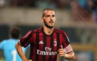 Calcio: milan  bonucci  juventus calcio