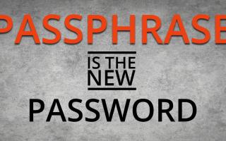 Sicurezza: password  passphrase  regole