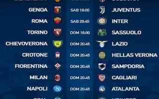 Serie A: serie a  calendario  2 giornata