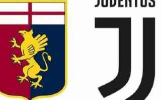 Serie A: juventus  genoa  formazioni ufficiali
