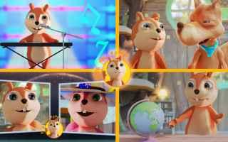 Video divertenti: cartoni animati  vlogs  scoiattolo