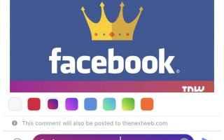 Facebook: facebook  apps  commenti  menu