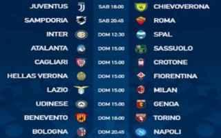 Serie A: serie a  3 giornata  partite  calendario