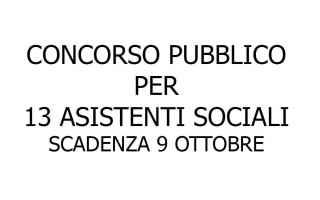 concorso pubblico 13 assistenti sociali