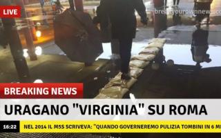 Roma: atac  roma  nubifragio